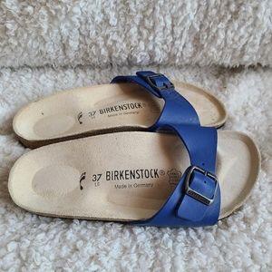 Birkenstock Papillio Royal Blue Single Strap Slide